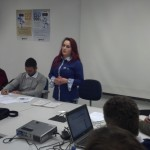Mariélle Madruga dos Santos apresentando suas propostas.