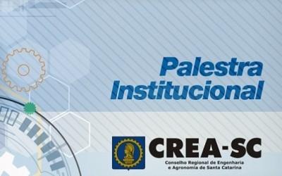 Palestra Institucional CREA-SC sede em abril de 2017